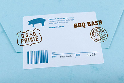Beganik Summer BBQ Invitation