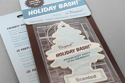 Beganik Holiday Bash Invitation