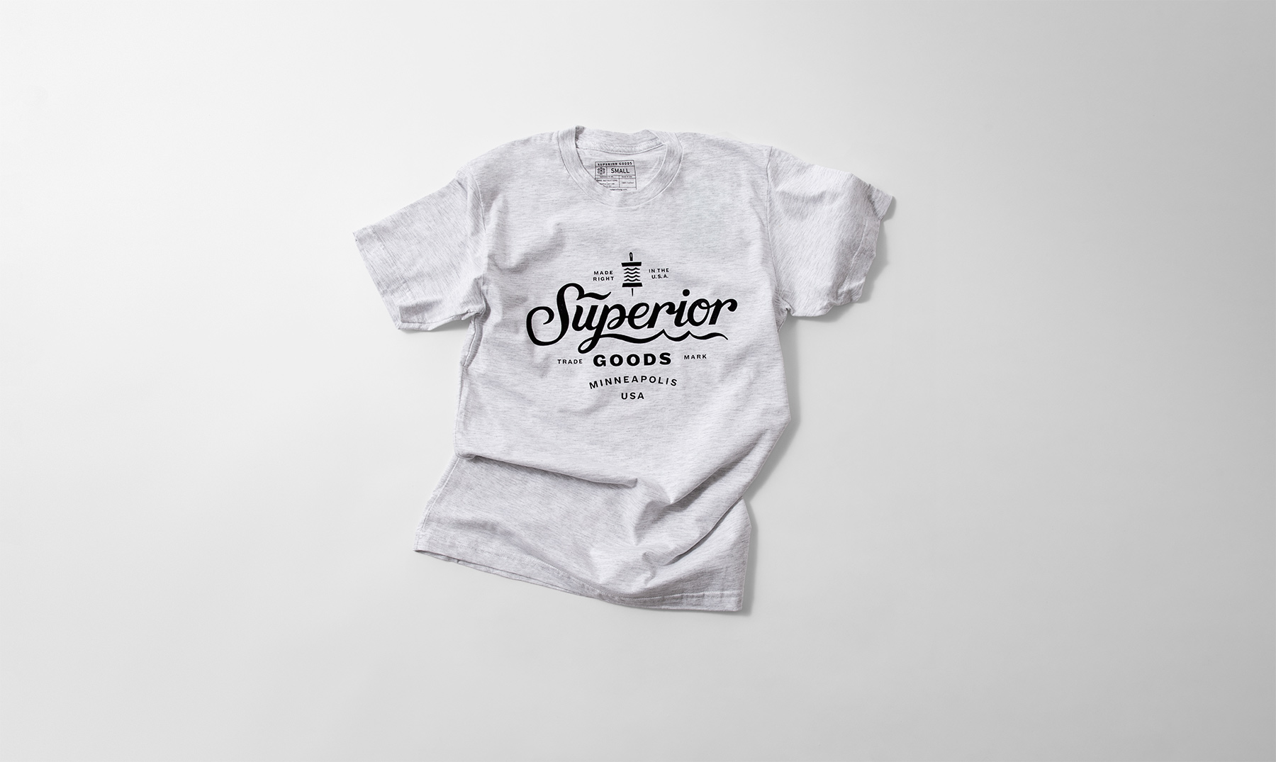 Superior Goods Hand-Lettered Script T-Shirt, Heather Gray