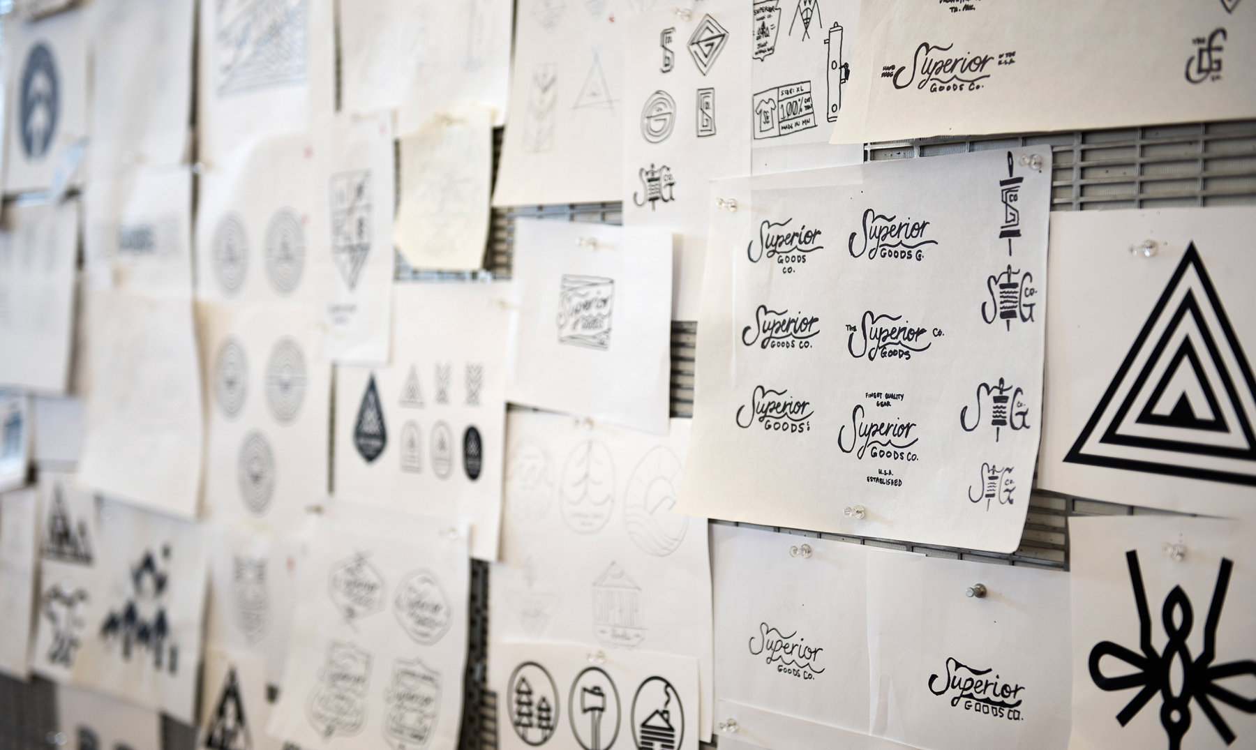 Superior Goods Hand-Lettered Script T-Shirt Sketches